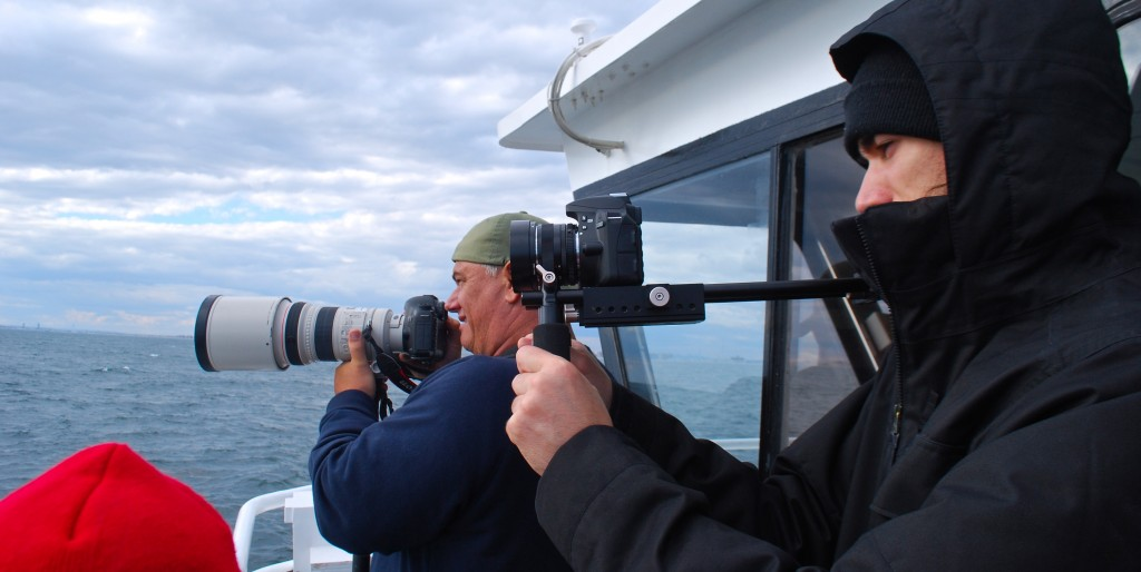 Artie Raslich shooting for Gotham Whale and Maurice on the American Princess. October 18, 2014