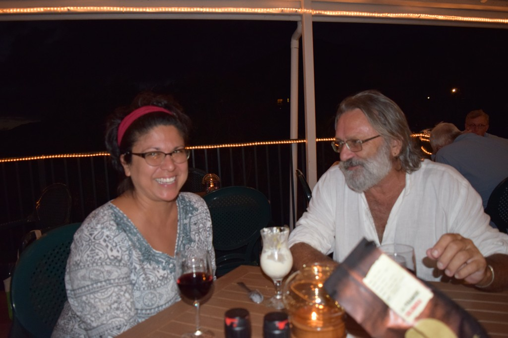 Concordia General Manager Wayne Lloyd and his wife Roxanne  dining at the Cafe Concordia